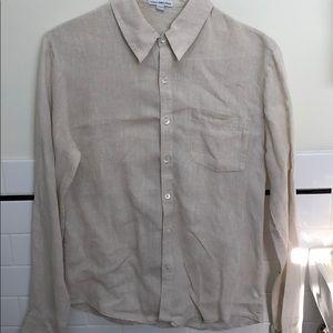 James Perse Button down linen shirt